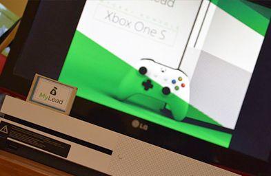 Выигранный Xbox в конкурсе от MyLead